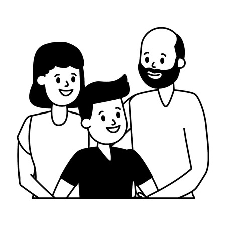 grandparents and grandson family vector illustration design Standard-Bild - 122638101