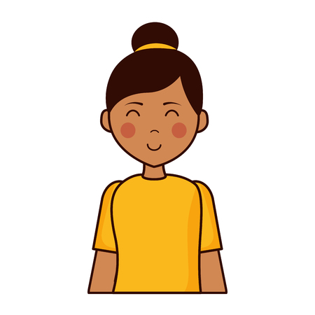 portrait woman character on white background vector illustration Banque d'images - 121909232