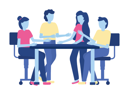 teamwork people meeting office vector illustration design Ilustração