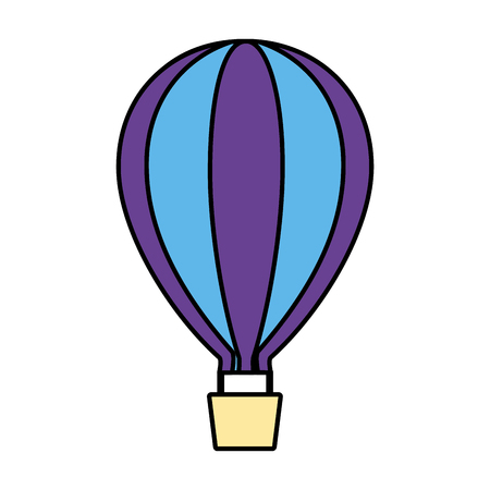 hot air balloon on white background vector illustration 向量圖像