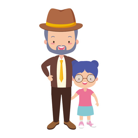 dad and daughter - fathers day vector illustration design Stock Vector - 122645633
