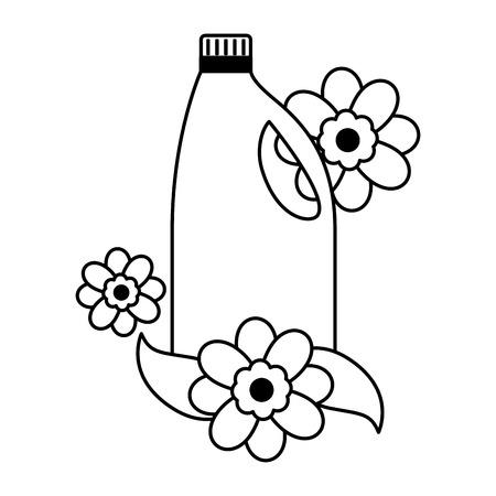 detergent bottle spring cleaning tools vector illustration