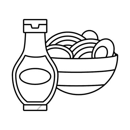 soup sauce bottle fast food white background vector illustration Standard-Bild - 122645637