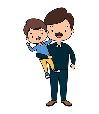 dad and son - fathers day vector illustration design Illustration