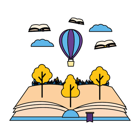 world book day literature adventure vector illustration 向量圖像