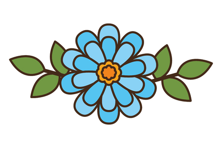 flower floral decoration on white background vector illustration 写真素材 - 121970102