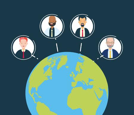 diversity man person world people vector illustration 일러스트