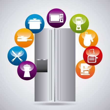 conception d'équipements de cuisine, illustration vectorielle graphique eps10 Vecteurs