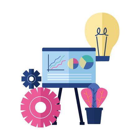 business board bulb gear vector illustration design Illustration
