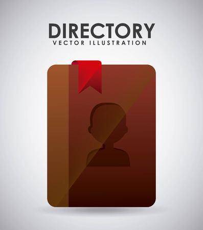directory icon design, vector illustration eps10 graphic