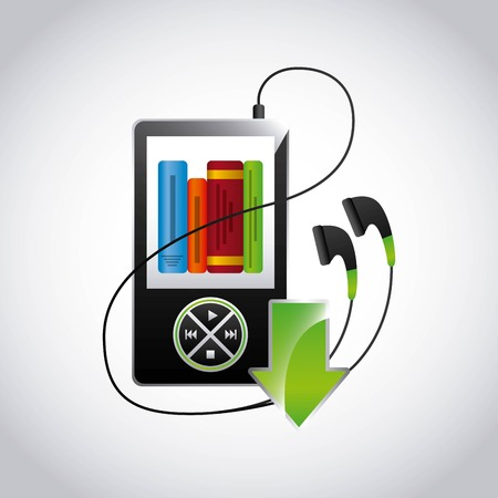 mp3 music player design, vector illustration eps10 graphic