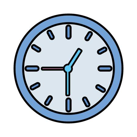 clock time icon on white background vector illustration vector illustration