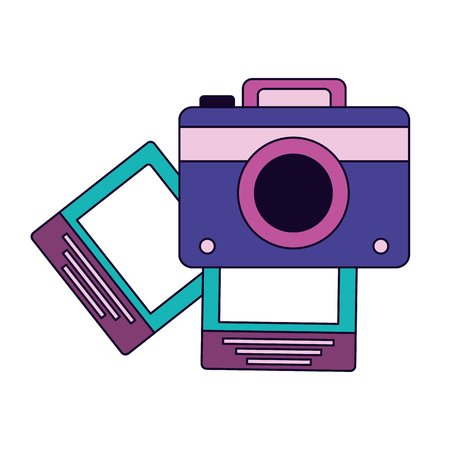 photography camera pictures on white background vector illustration Фото со стока - 122647412