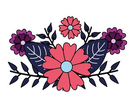 arrangement floral flowers foliage vector illustration design Illusztráció