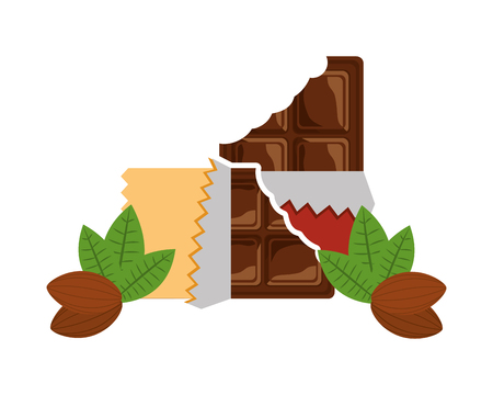 candies chocolate bars sweet cocoa vector illustration