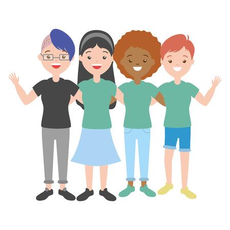 Diseño de ilustración de vector de orgullo de mujeres felices