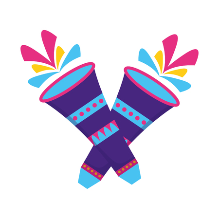 carnival fireworks festive on white background vector illustration  イラスト・ベクター素材