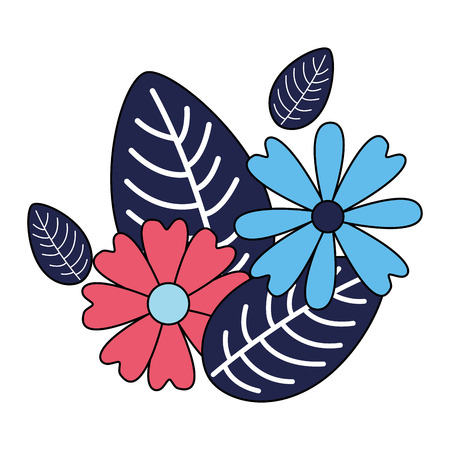 arrangement floral flowers foliage vector illustration design Ilustrace