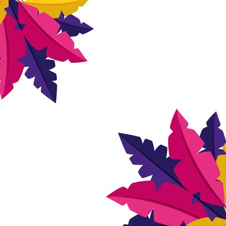 colored feathers decoration ornament vector illustration design Foto de archivo - 122647561