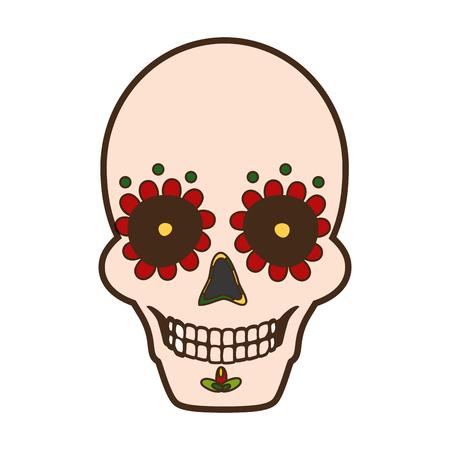 skull catrina mexico cinco de mayo vector illustration
