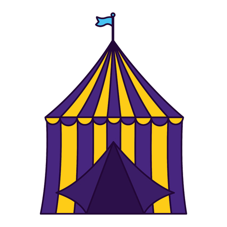 carnival tent circus on white background vector illustration design Stock Illustratie