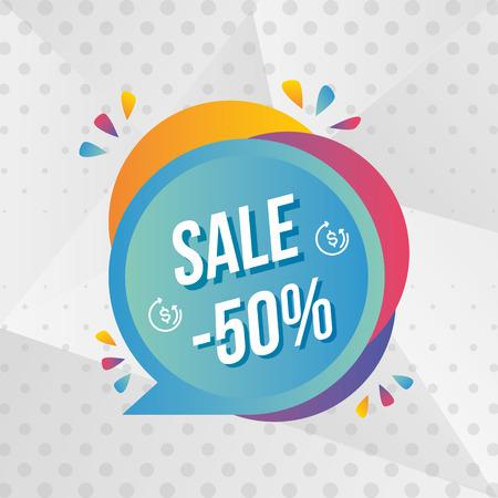 super sale off banner special vector illustration