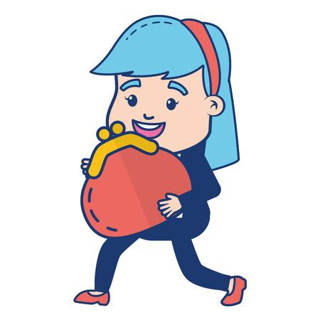 business woman purse online banking vector illustration Foto de archivo - 121970593