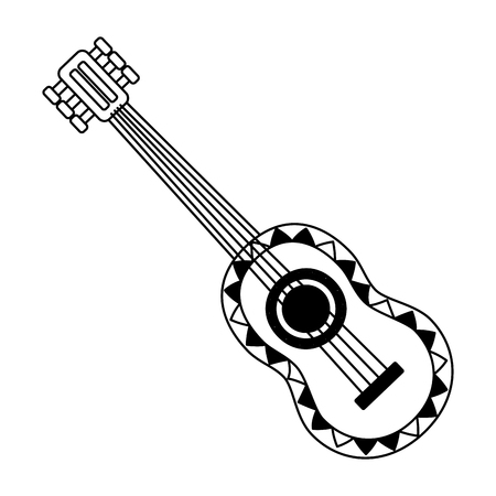 guitar mexico cinco de mayo vector illustration