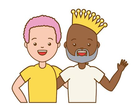 happy couple men lgbt pride vector illustration Stock Vector - 121970736