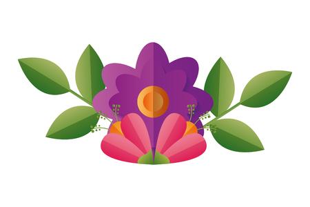 flower floral decoration on white background vector illustration