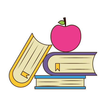 school books apple teachers day vector illustration Ilustração