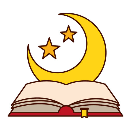 holy quran half moon ramadan kareem vector illustration design Standard-Bild - 121971099