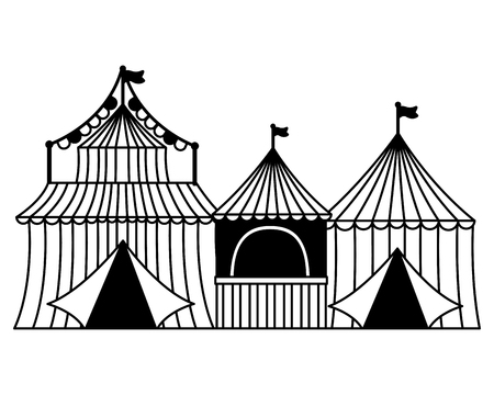 carnival tent booth circus vector illustration design 일러스트