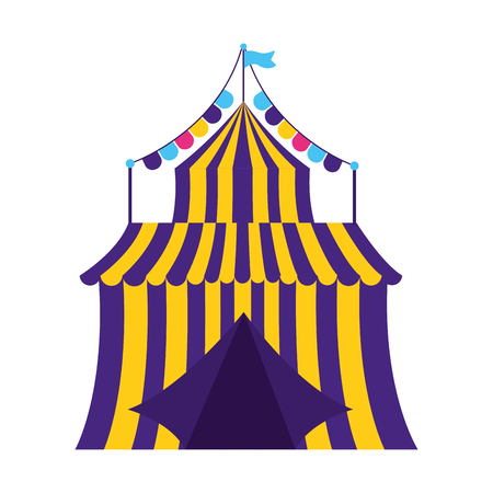 carnival tent circus garland vector illustration design 스톡 콘텐츠 - 122575770