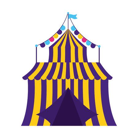 disegno dell'illustrazione di vettore della ghirlanda del circo della tenda di carnevale