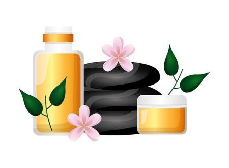 stones cosmetics wellness spa treatment therapy vector illustration Stock Vector - 122575823