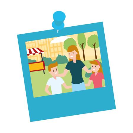 photo family mom and kids park vector illustration design Stockfoto - 122575908