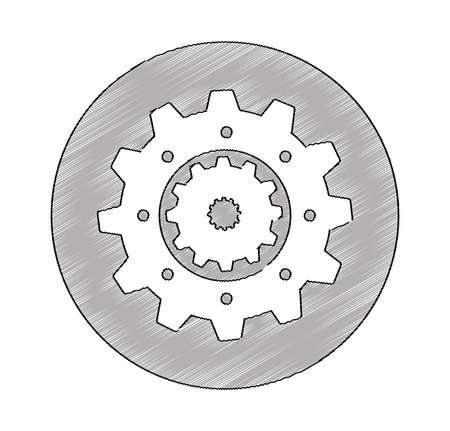 gears machine isolated icon vector illustration design Zdjęcie Seryjne - 122575949
