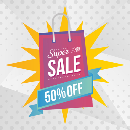 super sale off special promo market vector illustration