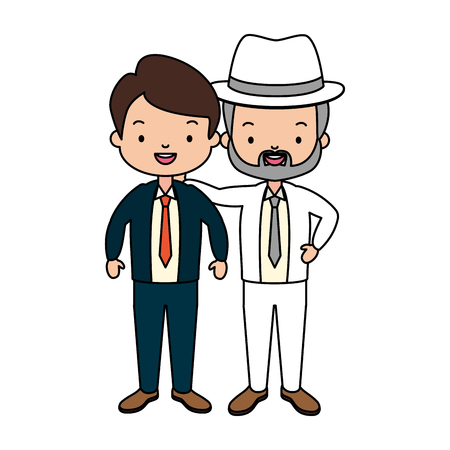 father and grandfather together family vector illustration Фото со стока - 122576079