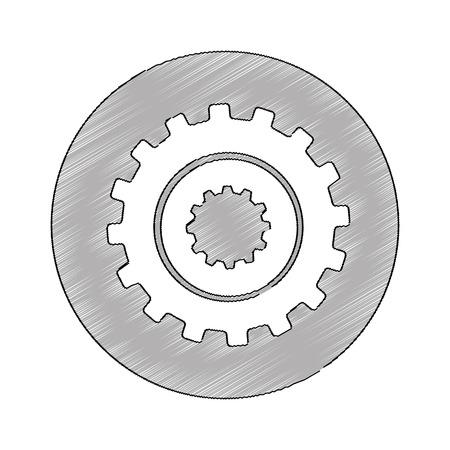 gears machine isolated icon vector illustration design