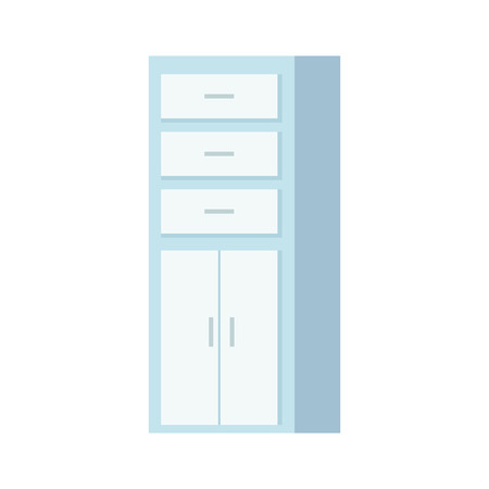 wooden shelving isolated icon vector illustration design Illusztráció