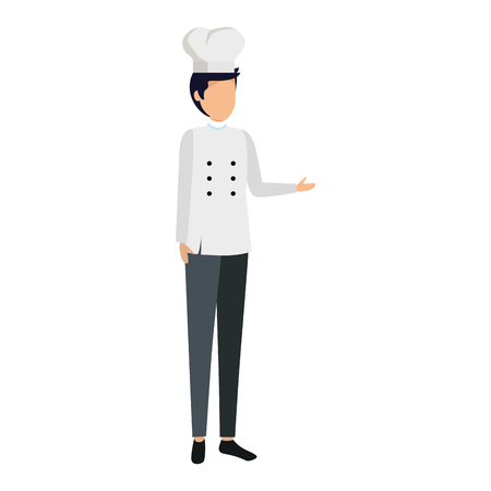 young chef avatar character vector illustration design 일러스트