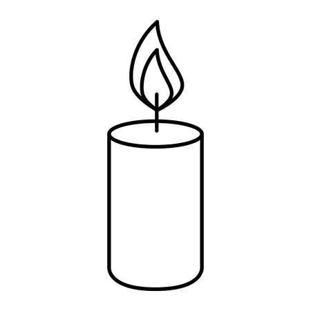 candle fire isolated icon vector illustration design