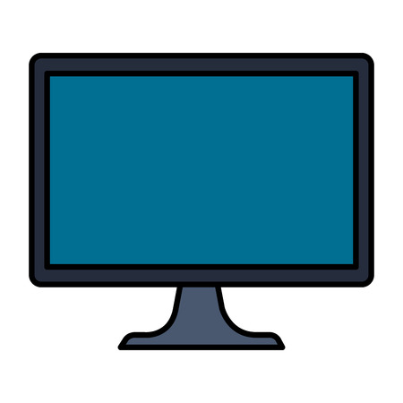 desktop computer isolated icon vector illustration design