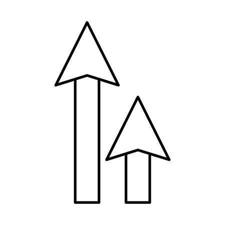Flèches vers le haut de l'icône isolé conception d'illustration vectorielle