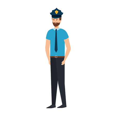 police officer avatar character vector illustration design Çizim