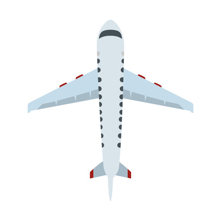 airplane flying isolated icon vector illustration design 免版税图像 - 122580512