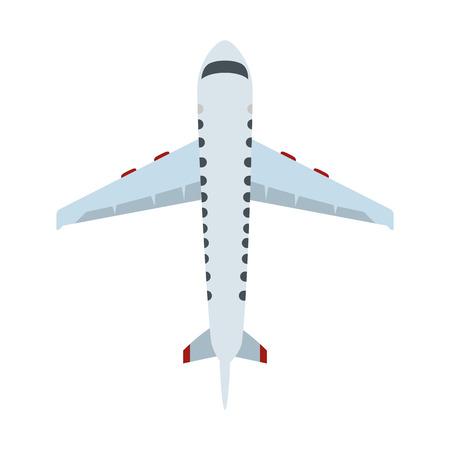 vliegtuig vliegen geïsoleerde pictogram vector illustratie ontwerp