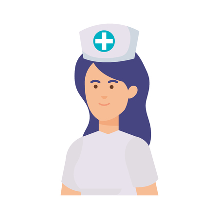 professional female nurse character vector illustration design Stock Illustratie